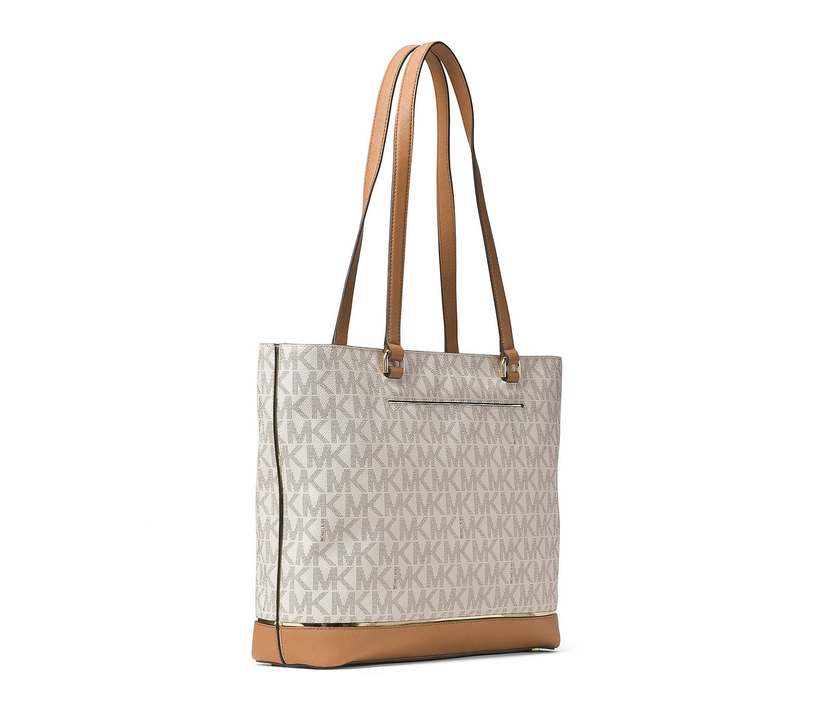 dbbbbf9befae MICHAEL Michael Kors Frame Out Item Large North South Tote (Vanilla)