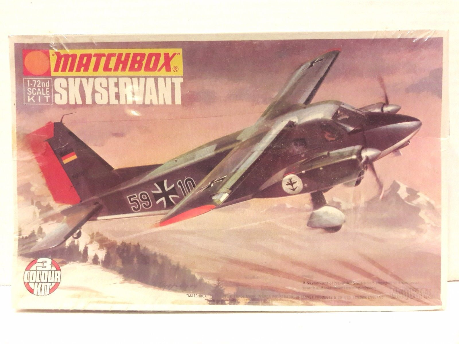 Primary image for New Matchbox 1/72 Scale Skyservant Plastic 3-Colour Model Kit No. PK-107