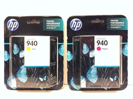 HP Officejet 940 Yellow/Magenta Ink Cartridge 2-Pack Bundle (New/Sealed) - $26.99
