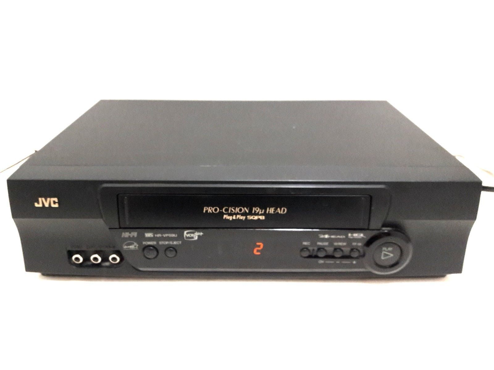 JVC Pro-Cision 4-Head Plug & Play SQPB Hi-Fi VHS/VCR Model HR-VP59U
