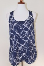 Forever 21 Size Small Blue and White Halter Racerback Sleeveless Top Sum... - $9.49