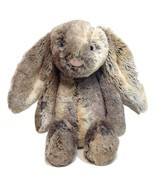 "Jellycat Bunny Rabbit Woodland Babe Plush Toy Gray Brown 12"" Stuffed Animal - $52.23 CAD"