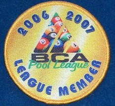 2006 07 BCA 8 BALL POOL LEAGUE PLAYER MEMBER PATCH NEW Free Shipping U.S.A. - $11.22