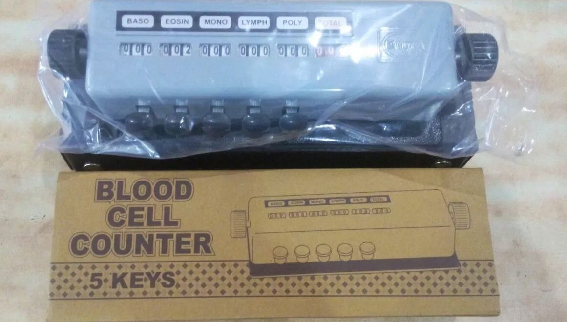Blood cell counter 5 key with Free Case