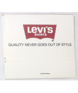 Rare Levi's Shirts Matchbook, Quality Never Goes Out of Style, Free Ship... - $5.17