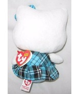 ORIGINAL HELLO KITTY BEANIE CAT AQUA TARTAN PLAID OUTFIT Free Shipping U... - $7.76