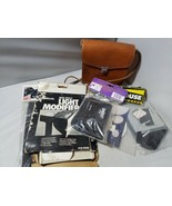Vintage Fotocamera Attrezzatura Accessori in pelle Marrone Custodia Luce - $41.47