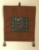 Decorative India Wall textile art: horse motif. Orig. Kunj folk art - $39.49