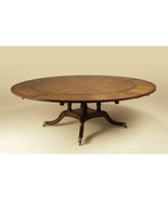 Maitland-Smith Mahogany Expandable Round Perimeter Dining Table 3530-158 - $3,499.00