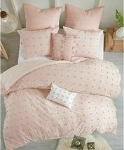 Urban Habitat Brooklyn Comforter 5-Pc Set Twin/Twin Xl Size - Pink Tufted Cotton image 3