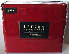 Ralph Lauren Dunham Admiral Red Sheet Set Queen - $106.00