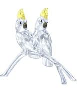 Authentic Swarovski Cockatoos Pair of Birds on Branch Crystal Figurine 5... - $262.35