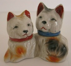 Vintage Terrier Dog Salt & Pepper Shakers Japan - $12.19