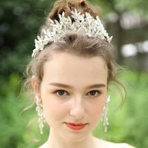 Crystal Flower Wedding Tiara Handmade Bridal Headband 2019 - £35.27 GBP