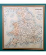 """1897 MAP Baedeker - England & Wales Railways 15 x 16"""" (38 x 41 cm) - $27.00"""