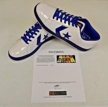 Converse White Blue Basketball Shoes sz 14 DWAYNE WADE Personal Owned w COA #14 - $247.49