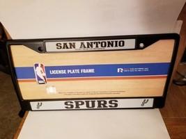 NBA San Antonio Spurs Black Chrome License Plate Frame - $24.49