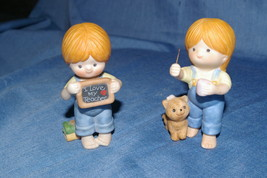 Enesco Country Cousins Katie Blowing Bubbles And I Love My Teacher Figurines - $12.00