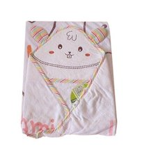 Lovely Cartoon Series Soft Baby Hooded Bath Towel, Pink Rabbit (110110CM)