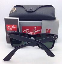 New Ray-Ban Polarized Sunglasses RB 2140 901/58 54-18 WAYFARER Black Frame/Green image 4