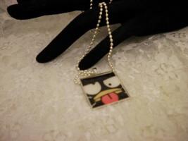 "Handmade BADTZ MARU 1"" Pendant NecklaceSilver Bezel Setting/Jewelry/Women/Kids - $9.41"