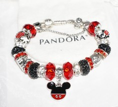 Mickey Mouse Minnie Mouse Disneyland - Authentic Jared Pandora bracelet - $139.00