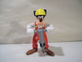 VINTAGE THE WALT DISNEY GOOFY JACK HAMMER OPERATOR PVC FIGURE EARS UP AP... - $8.33