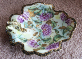 NIPPON ~ Ornate and Stunning 1930 or Earlier Hand Painted ~ Moriage Handled Dish - $75.00
