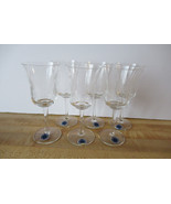 Etched Glass Cordial Glasses, Set of 6 Romania Crystal Cordial / Sherry ... - $50.00