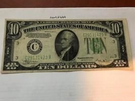 United States Hamilton $10 circulated banknote 1934 B #10 - $19.95