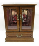LARGE Dresser Top Jewelry Box with 1 drawer n 2 doors n Music Box - $90.00
