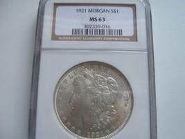 1921 Morgan Silver Dollar , NGC , MS 63 - $65.00