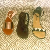 LOT OF 3 Sandals Women's 8.5 Chinese Laundry Jessica Simpson Lulu's Metallic - $36.00