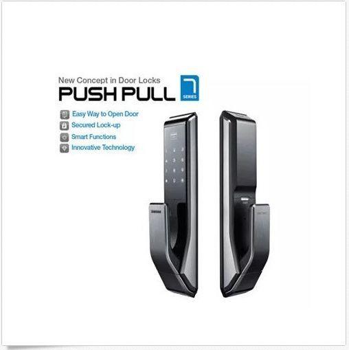 SAMSUNG Digital Push Pull doorlock EZON SHS-P710 [Push from Outside]