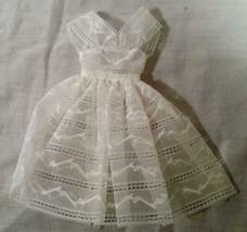 Vintage 1961 - 1964 Mattel Barbie White Lacey Overdress Orange Blossom 987 Dress - $34.64