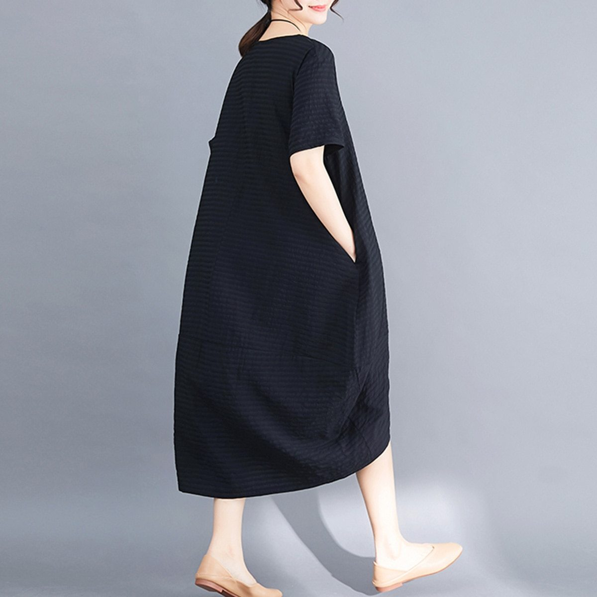 Maternity Dress O Neck Loose All Match Chic Breathable Mom Dress image 6