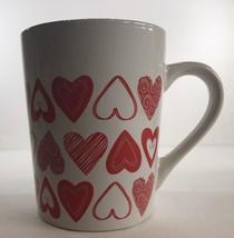 Heart Motifs Stoneware Coffee Mug/Cup by Royal Norfolk (Valentine's) 14 Oz. - $12.99