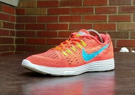 WOMENS NIKE LUNAR TEMPO RUNNING SHOES SZ 9 USED 705462 600 ORANGE SNEAKERS - $29.69