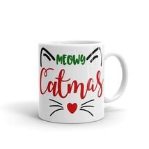New Mug - Meowy Christmas Cat kitten kitty Xmas coffee Mug meow - £8.52 GBP+