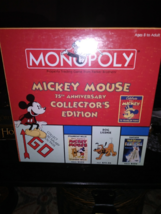 mickey mouse 75th anniversary edition monopoly game brand new - $49.99