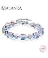 MALANDA Bran Crystals From Swarovski  Bracelets Bangles Fashion Sterling... - $40.69