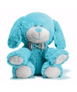 Plush Pup Baby Boy Soft Blue Puppy Dog Stuffed Animal 3 Cheers For Baby - $16.82
