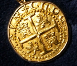 PERU 1699 4 ESCUDOS PENDANT JEWELRY RARE 1715 FLEET PIRATE GOLD COINS TR... - $25,000.00