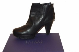 Stuart Weitzman Women's Black Leather Heel Ankle Boots Shoes  Sz 10 M - $98.01
