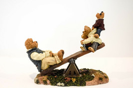 Boyds Bears  Dad With Teeter Totter and Boing  Worlds Best Dad  Style 22... - $27.88