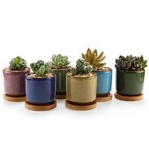 T4U 2.5 Inch Ceramic Ice Crack Zisha Raised Serial Sucuulent Plant Pot/C... - $21.23
