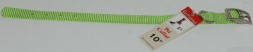 Valhoma 720 10 LG Dog Collar Lime Green Single Layer Nylon 10 inches Package 1