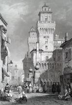 ITALY Ferrara - 1864 Fine Quality Print Engraving - $39.60