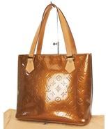 Authentic LOUIS VUITTON Houston Bronze Vernis Tote Bag Purse #36925 - $439.00