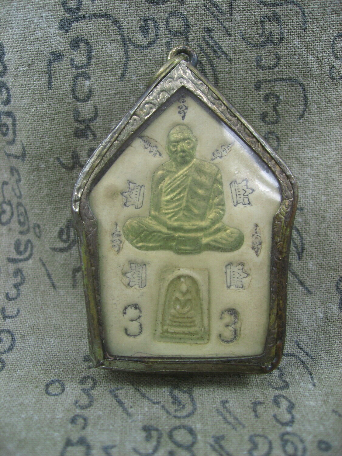 Primary image for BLESSED HOLY LP TIM WAT LAHANRAI TOP LUCKY POWER RARE THAI MAGIC BUDDHA AMULET